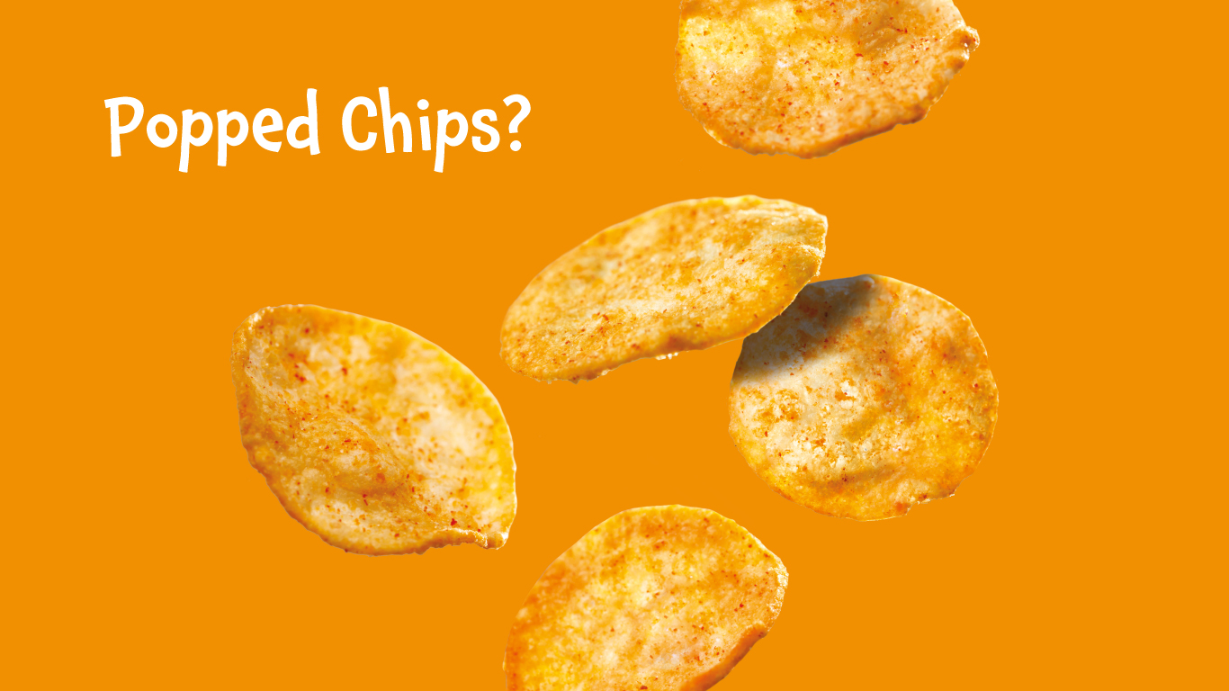 Popped chips are a healthier alternative to crisps!